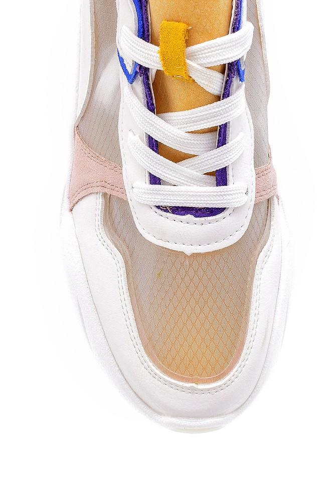 5638128720 Kadın Şeffaf Detaylı Sneaker