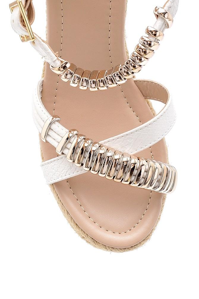 5638128871 Kadın Dolgu Topuklu Sandalet