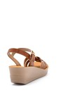 5638132553 Kadın Kroko Desenli Sandalet