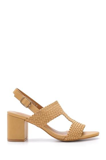 Bej Kadın Topuklu Sandalet 5638132633