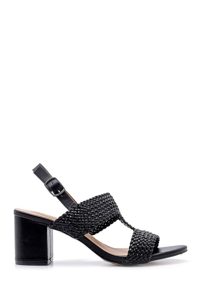 Siyah Kadın Topuklu Sandalet 5638132632