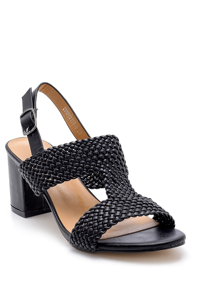 5638132632 Kadın Topuklu Sandalet
