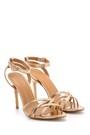 5638133839 Kadın Metalik Topuklu Ayakkabı