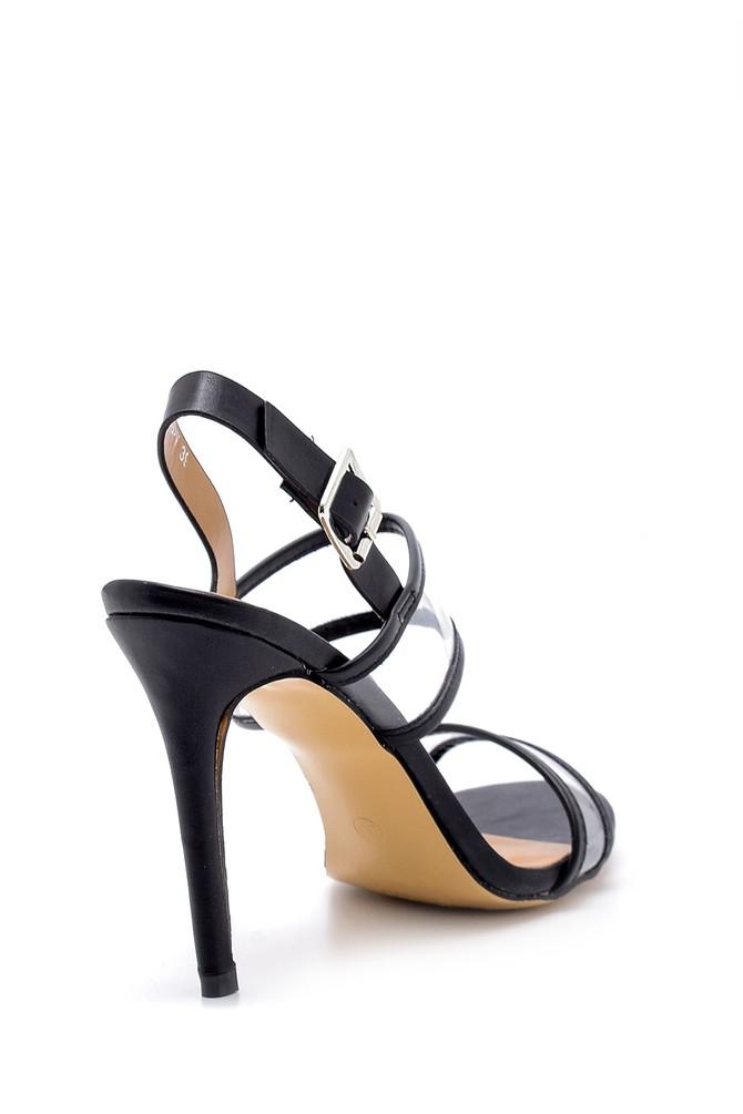 5638133860 Kadın Şeffaf Bantlı Topuklu Sandalet