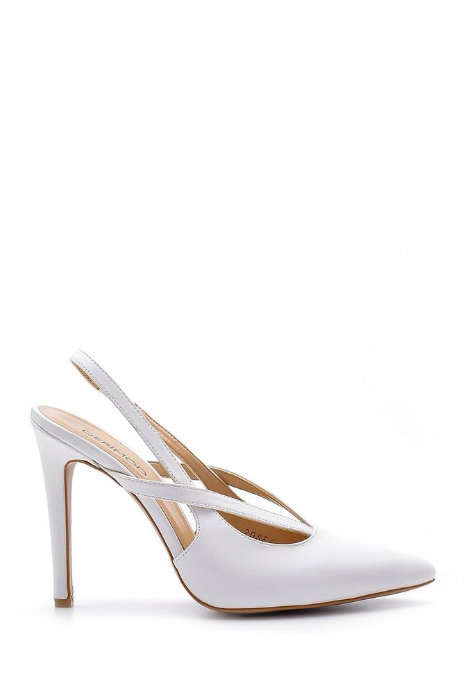 Beyaz Kadın Topuklu Ayakkabı 5638181932