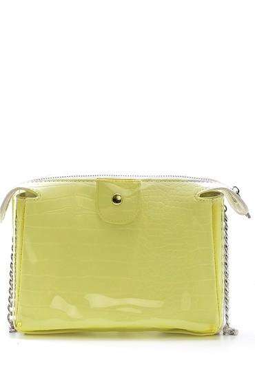 Sarı Kadın Şeffaf Detaylı Çanta 5638158297