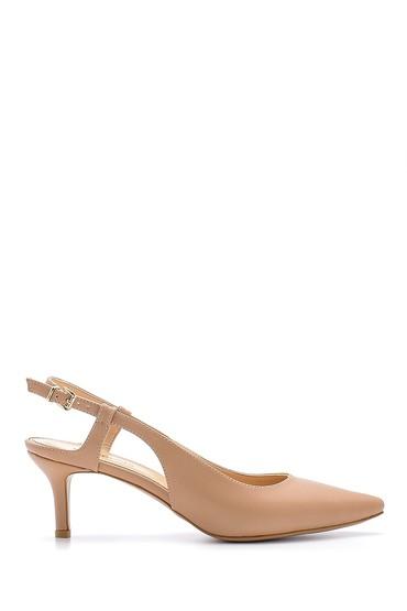 Bej Kadın Kısa Topuklu Ayakkabı 5638198520