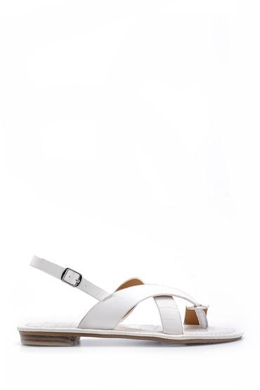 Beyaz Kadın Sandalet 5638131804