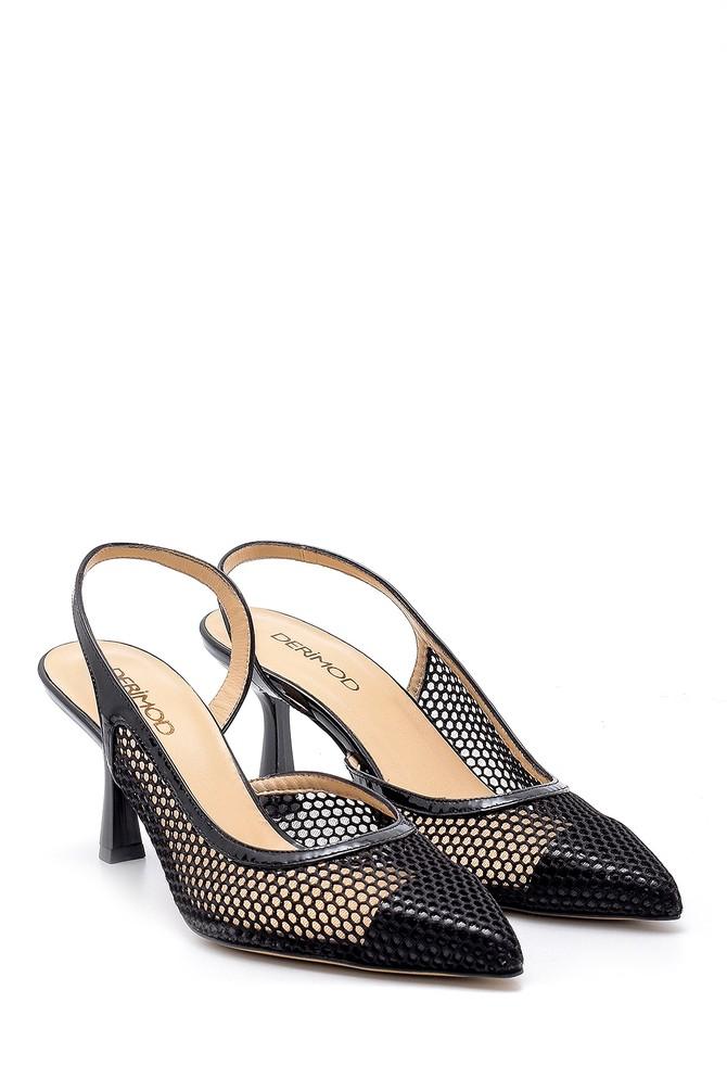 5638165726 Kadın Deri Topuklu Ayakkabı