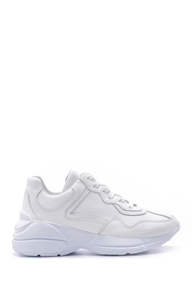 Beyaz Kadın Deri Sneaker 5638167644