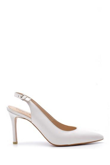 Beyaz Kadın Deri Stiletto 5638163272