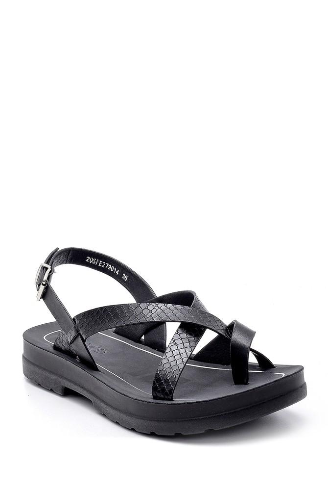 5638132500 Kadın Yılan Derisi Desenli Sandalet