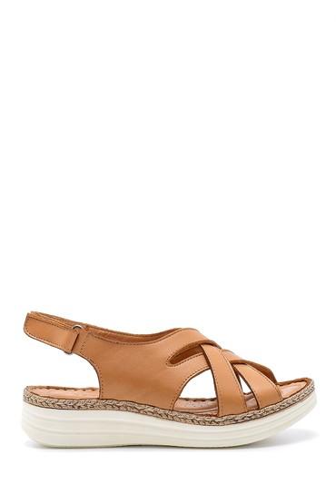 Kahverengi Kadın Deri Sandalet 5638203071
