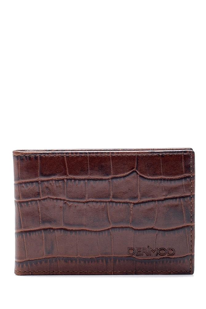 Kahverengi Erkek Deri Kroko Desenli Cüzdan 5638140149