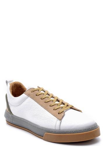 Beyaz Erkek Deri Sneaker 5638202285