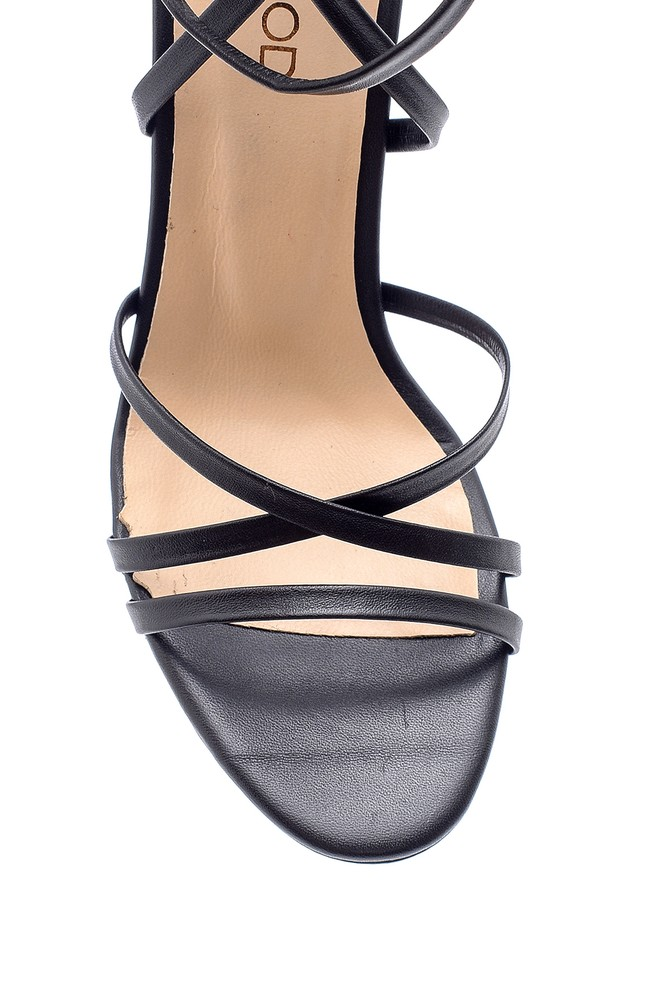 5638163077 Kadın Deri Topuklu Sandalet