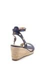 5638128833 Kadın Süet Dolgu Topuklu Sandalet