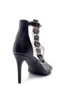 5638129117 Kadın Taş Detaylı Şeffaf Bantlı Topuklu Sandalet