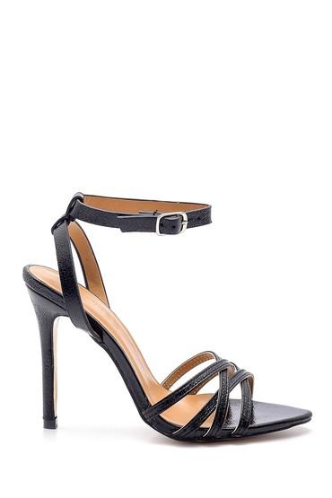 Siyah Kadın Metalik Topuklu Ayakkabı 5638133838