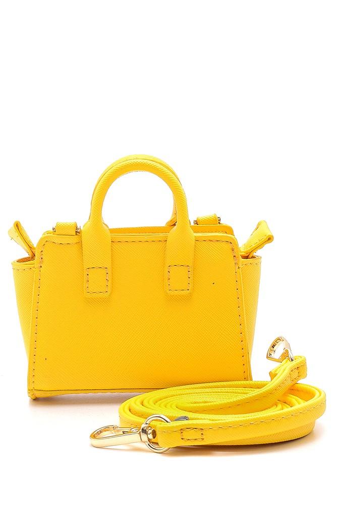 Sarı Kadın Mini Çapraz Çanta 5638158222