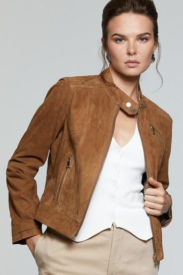 Kahverengi Kylie Kadın Deri Ceket 5638173637