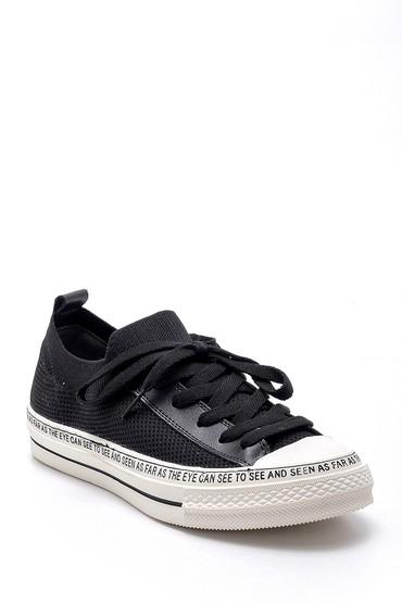 Siyah Kadın Yazı Baskılı Ayakkabı 5638203254