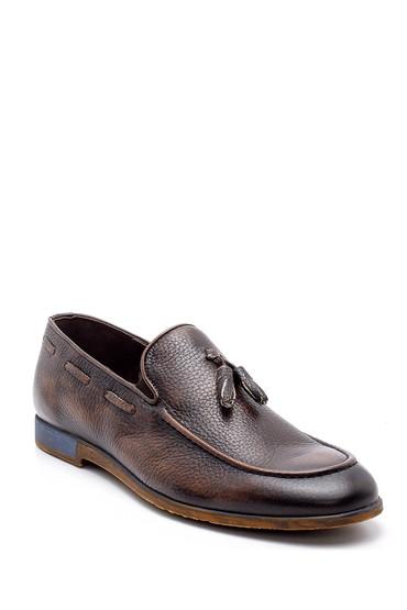 Kahverengi Erkek Deri Loafer 5638146057