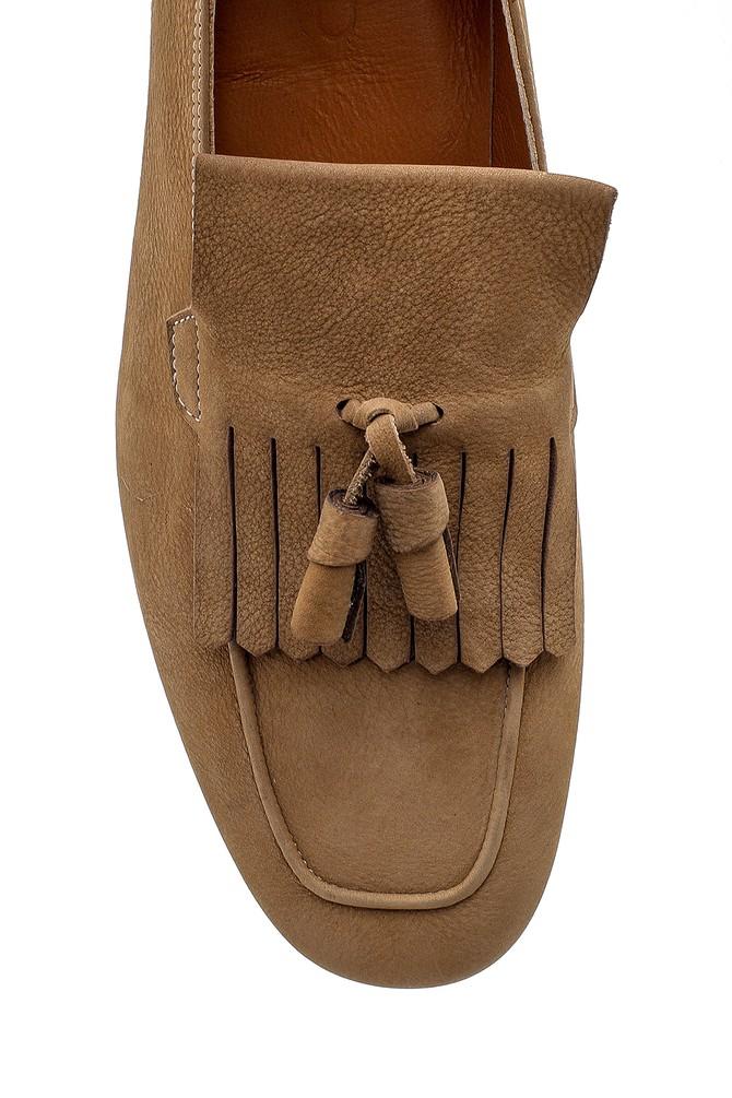 5638157862 Erkek Nubuk Püskül Detaylı Loafer