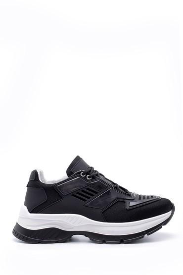Siyah Erkek Deri Sneaker 5638157911