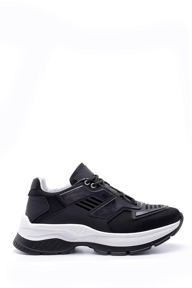 Siyah Erkek Deri Sneaker 5638157919