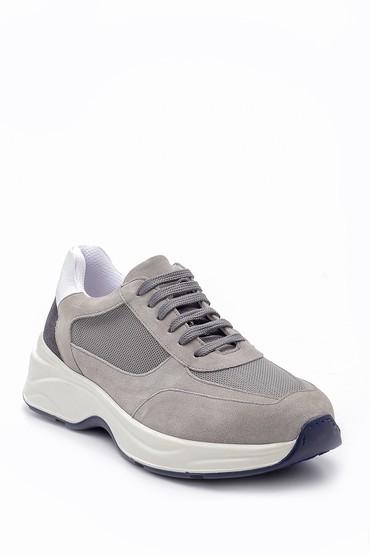 Gri Erkek Süet Deri Sneaker 5638157958