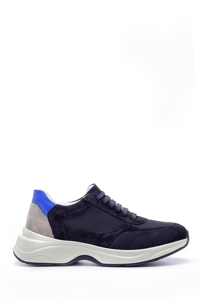 Lacivert Erkek Süet Deri Sneaker 5638157971