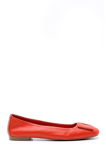 Kırmızı Kadın Deri Babet 5638152673