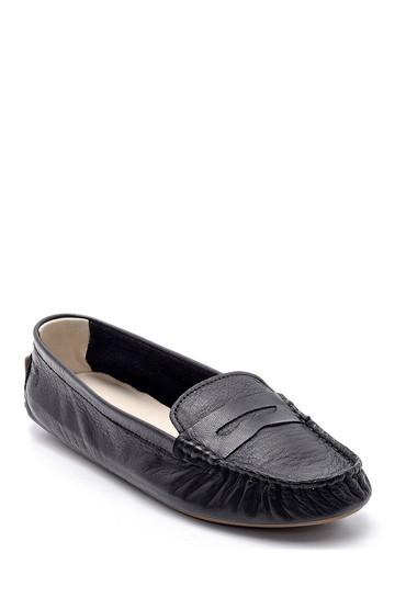 Siyah Kadın Deri Loafer 5638154838