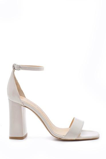 Bej Kadın Kalın Topuklu Sandalet 5638166170