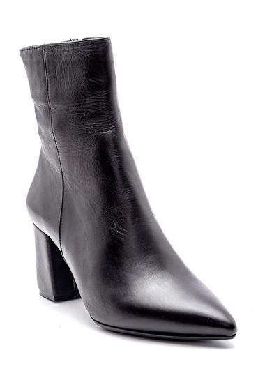 Siyah Kadın Deri Topuklu Bot 5638194577