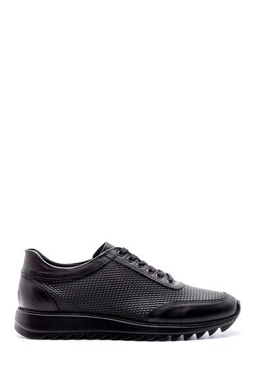 Siyah Erkek Deri Sneaker 5638197048