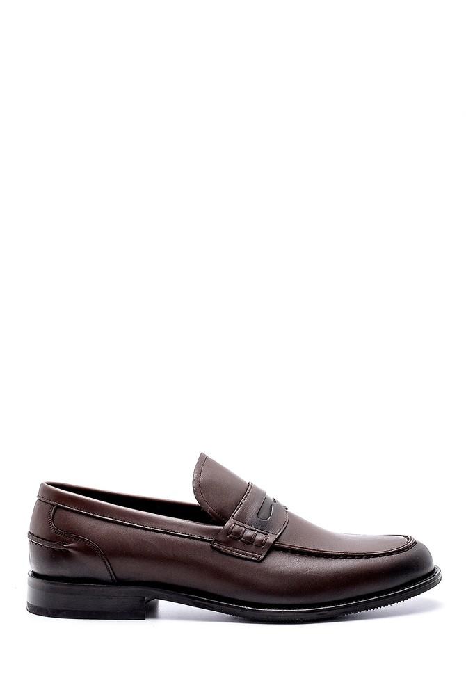 Kahverengi Erkek Deri Klasik Loafer 5638200298