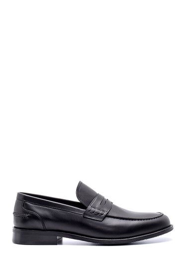 Siyah Erkek Deri Klasik Loafer 5638200311