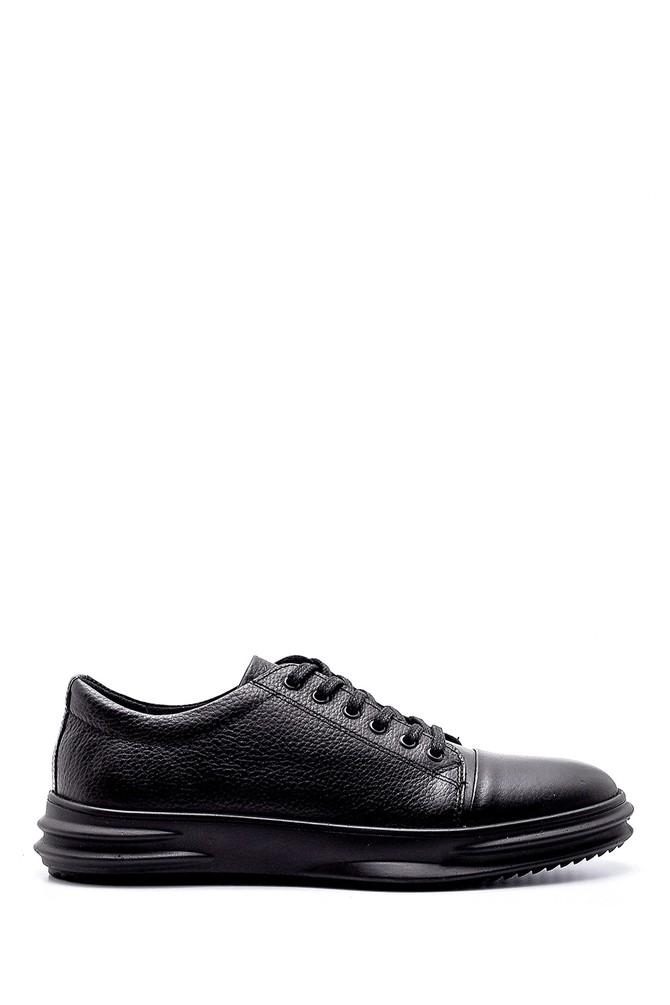 Siyah Erkek Deri Sneaker 5638196941