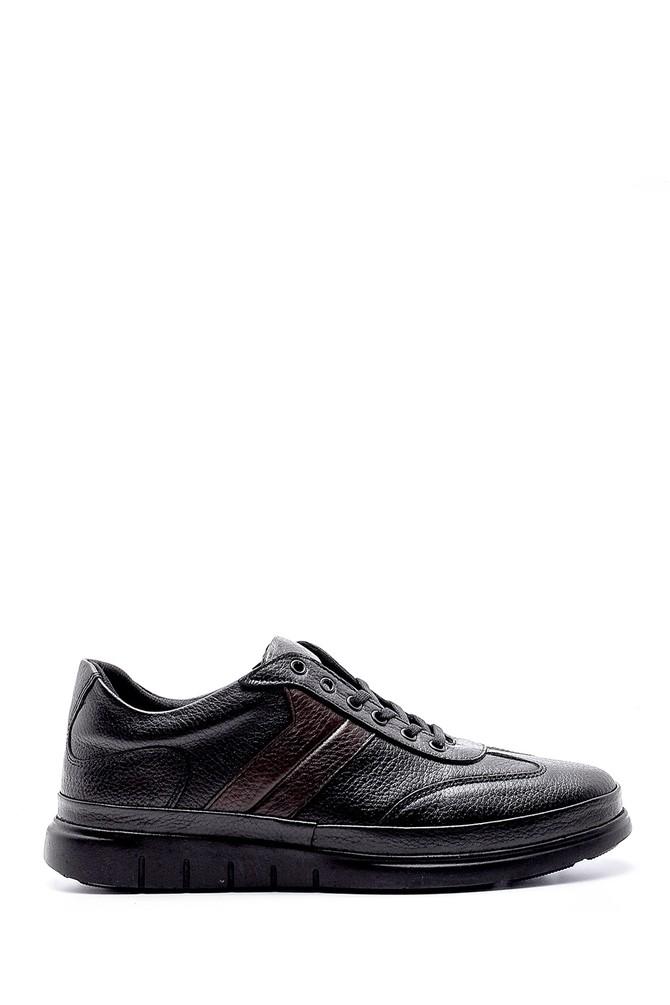 Siyah Erkek Deri Sneaker 5638203381
