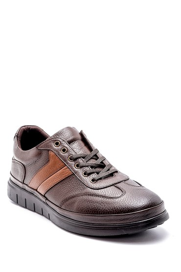 Kahverengi Erkek Deri Sneaker 5638203379