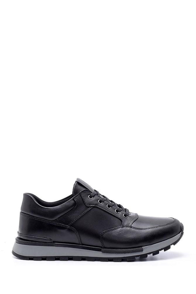 Siyah Erkek Deri Casual Sneaker 5638203470