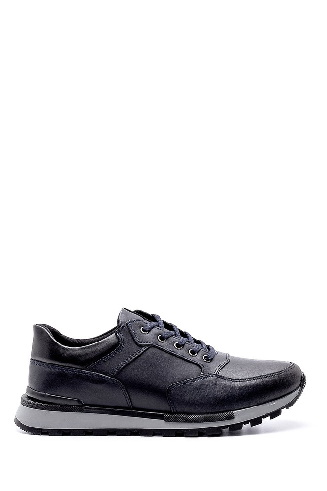 Lacivert Erkek Deri Casual Sneaker 5638203468