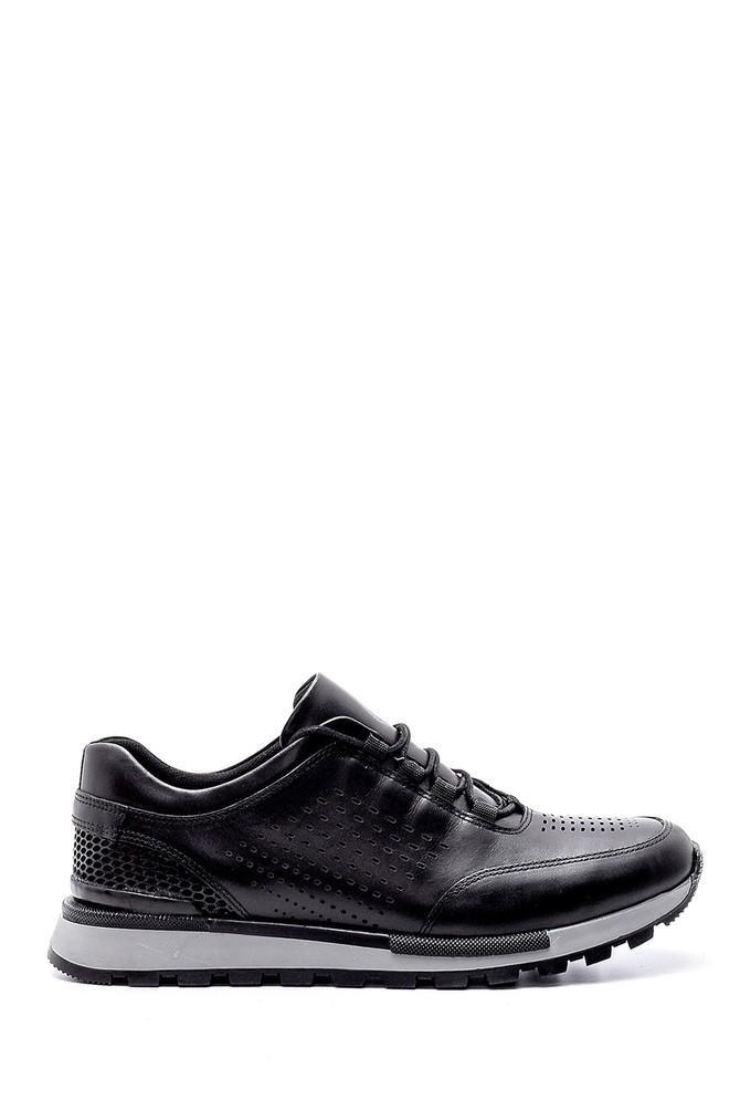 Siyah Erkek Deri Sneaker 5638203511