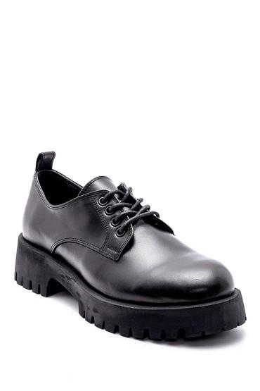 Siyah Kadın Deri Ayakkabı 5638205843