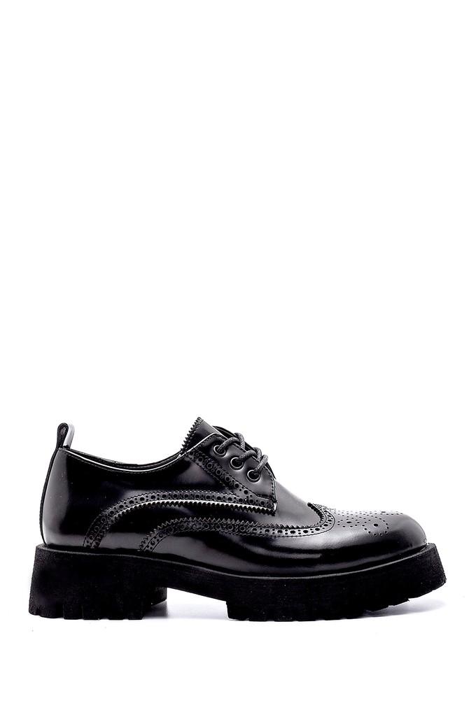 Siyah Kadın Deri Ayakkabı 5638205857