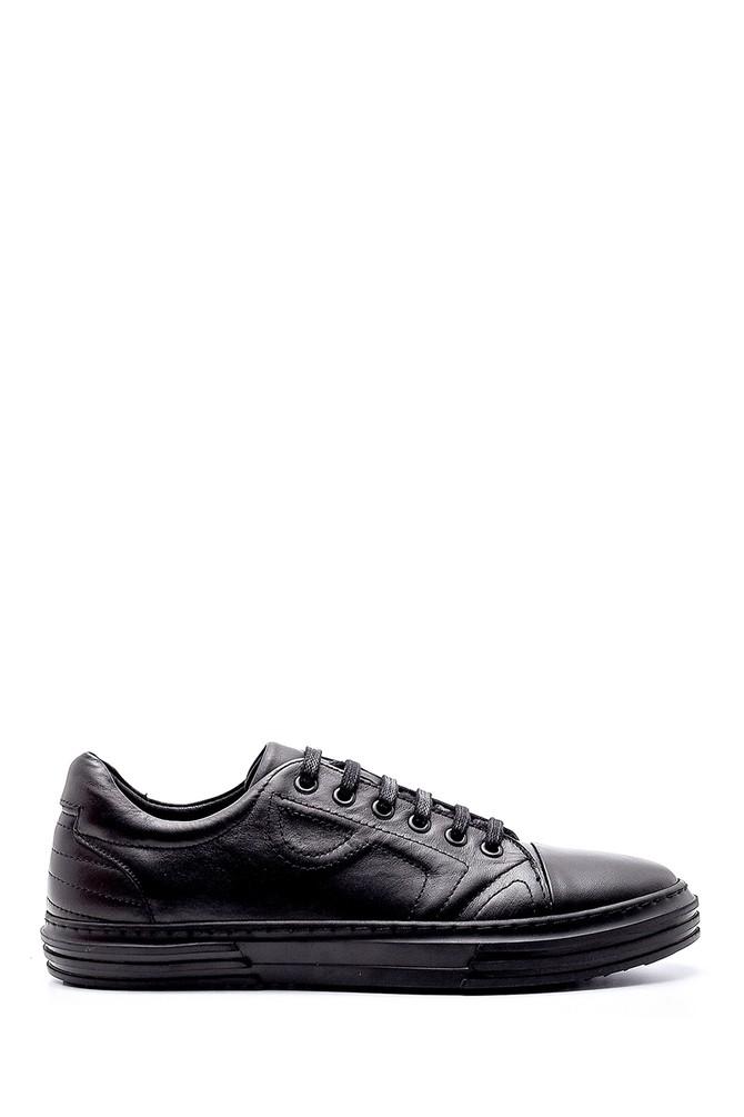 Siyah Erkek Deri Sneaker 5638208540