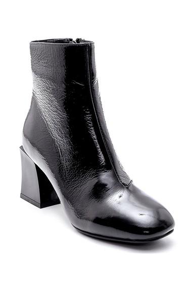 Siyah Kadın Deri Rugan Topuklu Bot 5638209599