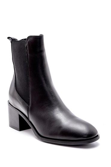Siyah Kadın Deri Topuklu Bot 5638209629
